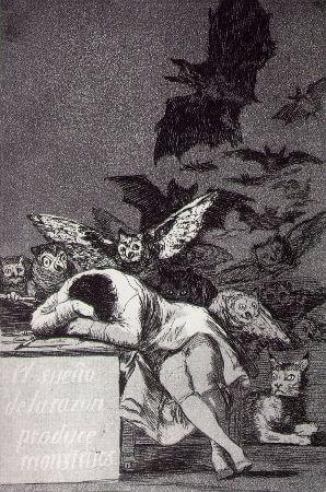 Francisco Goya, Los Caprichos, No 43, El sueno de la razon produce monstruos