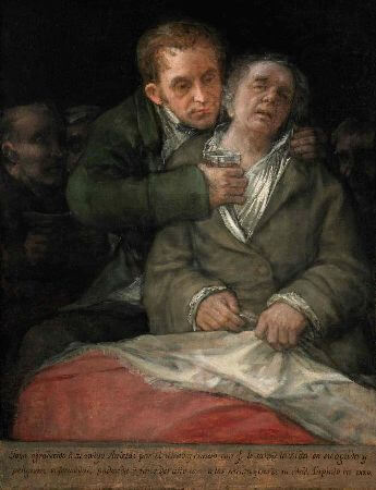 Francisco Goya, Self Portrait With Doctor Arrieta, 1820