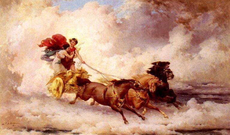 Frederick Arthur Bridgman, Apollon Abducting Cyrene