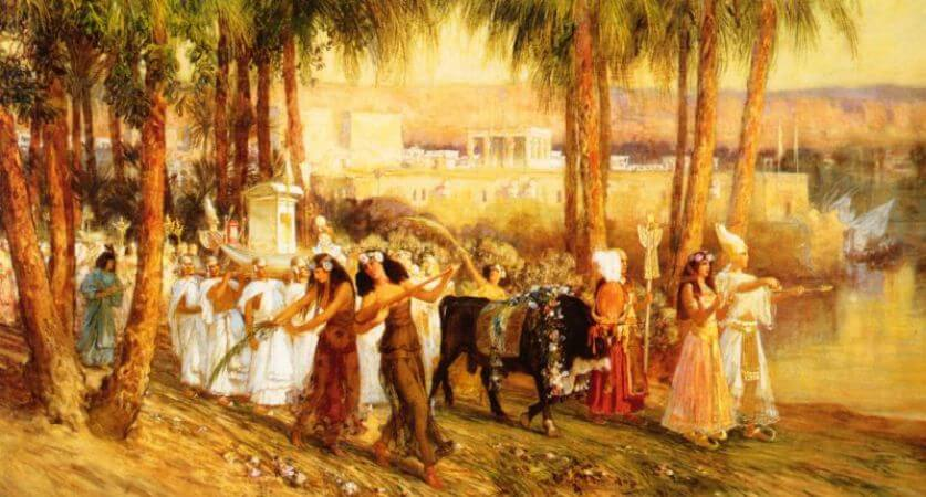 Frederick Arthur Bridgman, Procession in Honor of isis, 1902