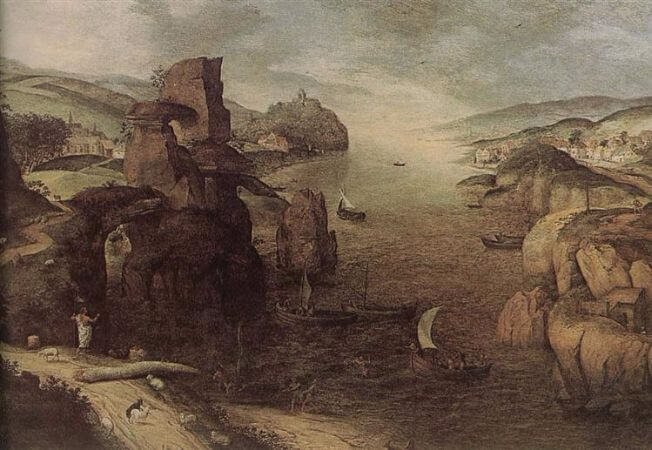 Landscape With Christ Appearing To The Apostles At The Sea Of Tiberias, 1553