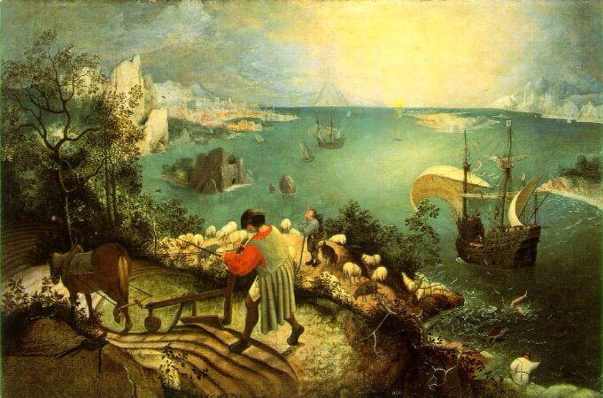 Landscape With The Fall Of icarus, 1558