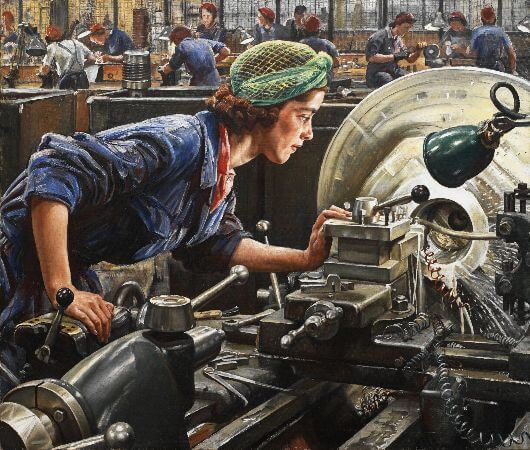 Laura Knight, Ruby Loftus Screwing A Breech Ring, 1943