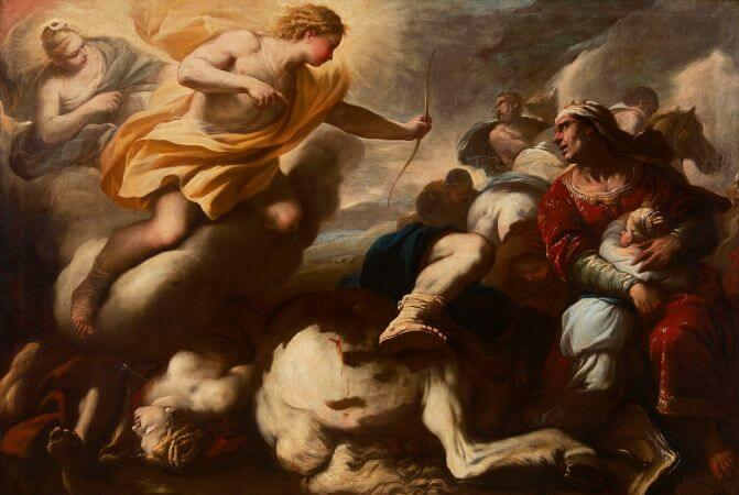Luca Giordano, The Massacre of the Children of Niobe, 1685