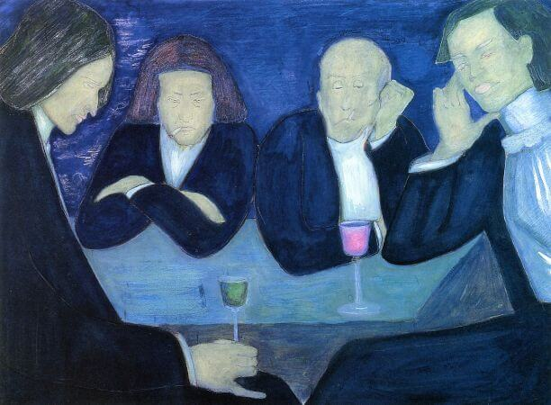 Marianne von Werefkin, At The Cafe, 1909