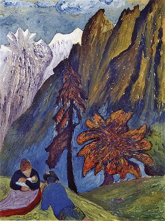 Marianne von Werefkin, Autumn Idyll, 1910