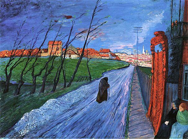 Marianne von Werefkin, City in Lithuania, 1913