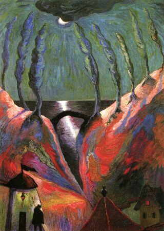 Marianne von Werefkin, Fantastic Night, 1917