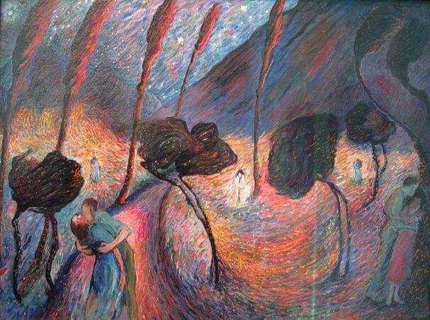 Marianne von Werefkin, Liebeswirbel, 1917