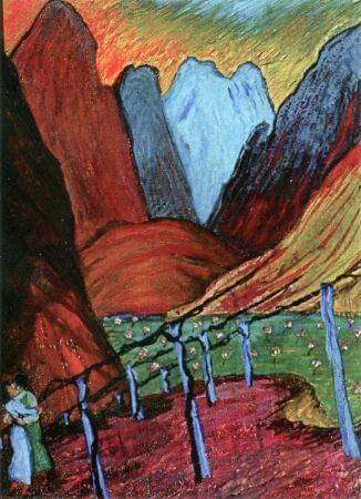 Marianne von Werefkin, Lovers, 1915