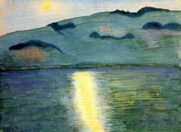 Marianne von Werefkin, Moonlit Landscape, 1907