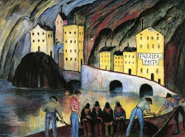 Marianne von Werefkin, The Living and The Dead, 1924