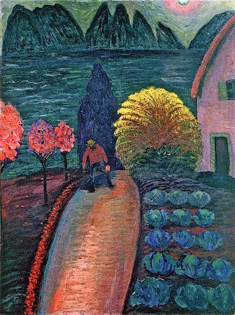 Marianne von Werefkin, The Yellow Bush, 1925