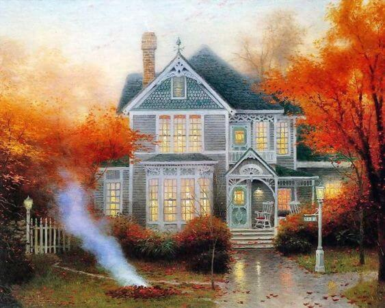 Thomas Kinkade, Amber Afternoon