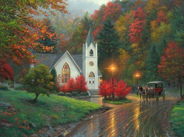 Thomas Kinkade, Autumn Chapel