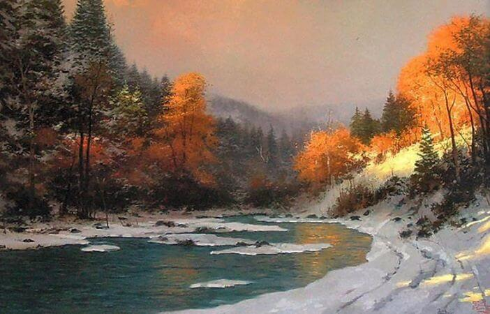 Thomas Kinkade, Autumn Snow