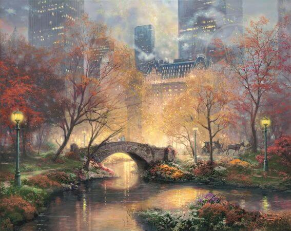 Thomas Kinkade, Central Park in The Fall