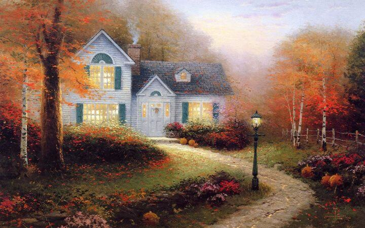 Thomas Kinkade, The Blessings of Autumn