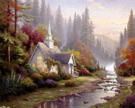 Thomas Kinkade, The Forest Chapel