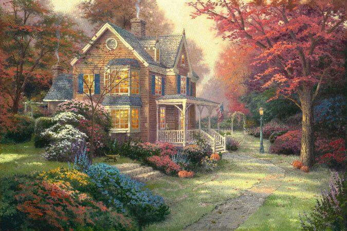 Thomas Kinkade, Victorian Autumn