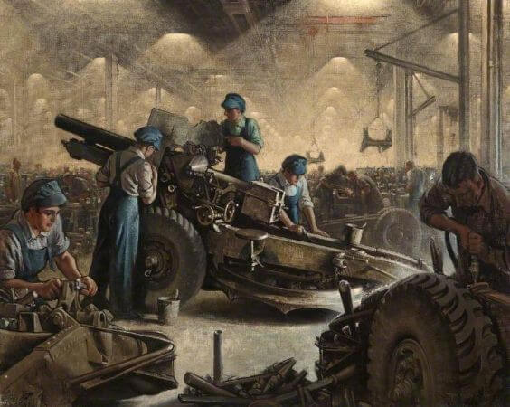 Tom Purvis, Women Munitions Workers At Weir's Factory