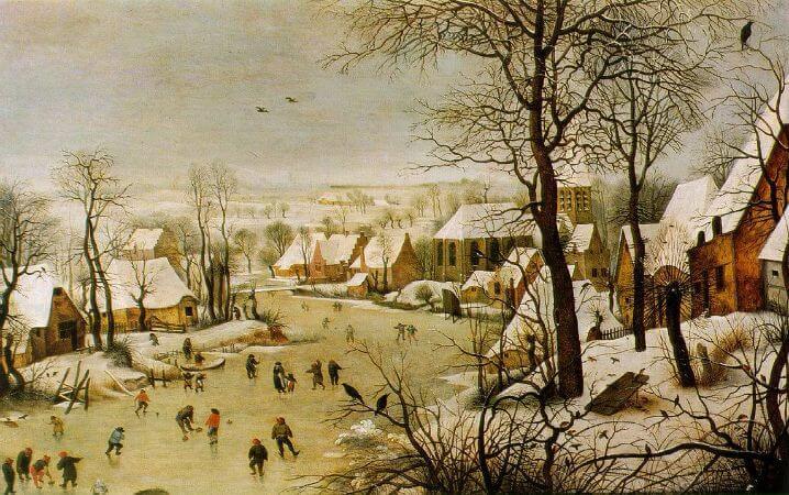 Winter Landscape With A Bird Trap, 1565