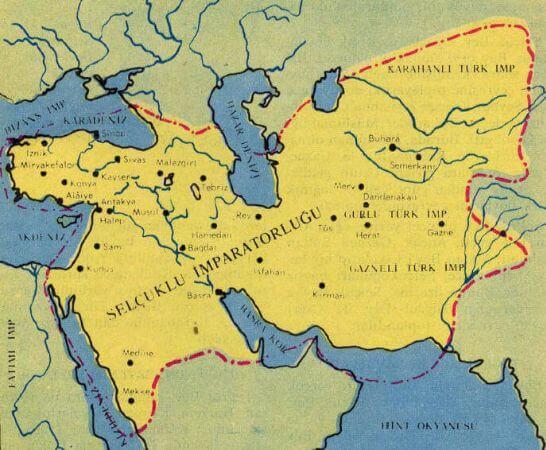 selcuklu devleti harita