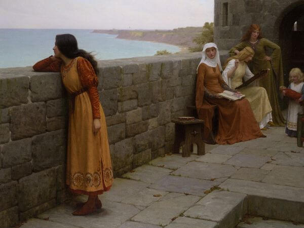 Edmund Blair Leighton, The Hostage, 1912