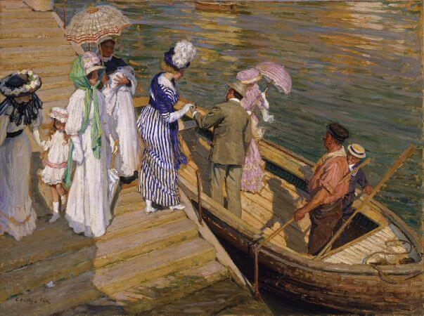 Emanuel Phillips Fox, The Ferry, 1911