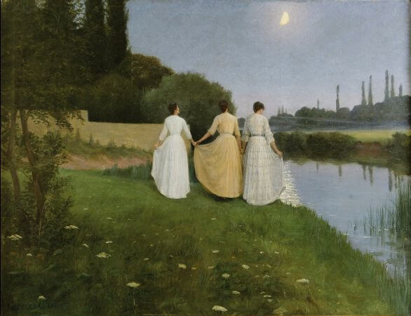 Georges-Marie-Julien Girardot, Courtesy To The Moon, Twilight, 1890