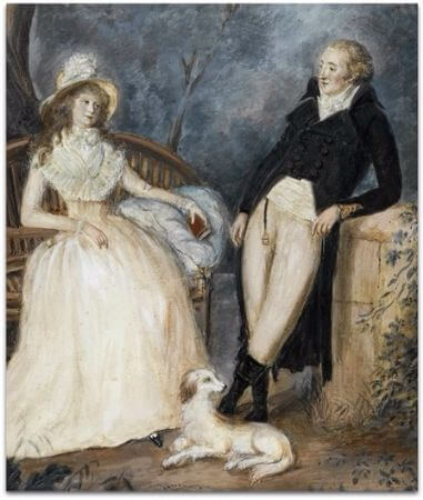 Goethe and Charlotte von Stein