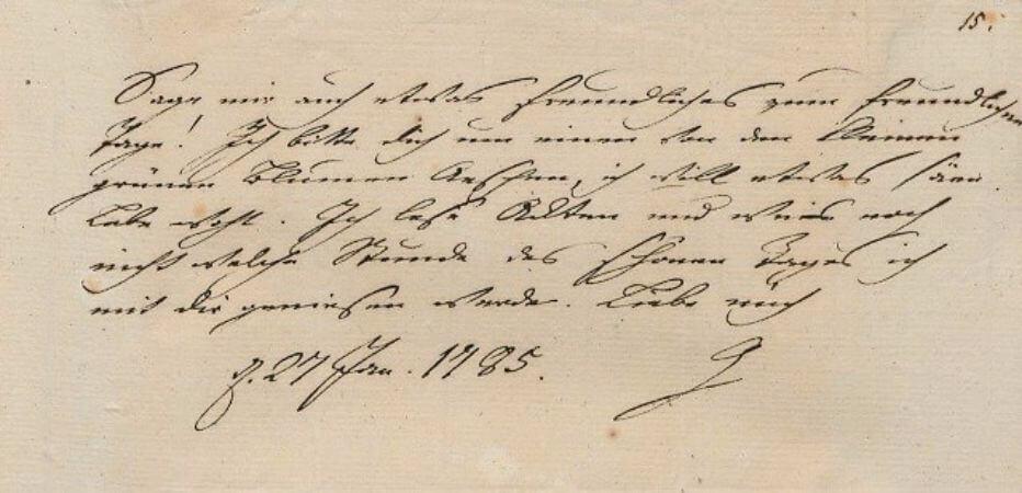 Goethe'nin Frau Von Stein'a yazdigi mektup