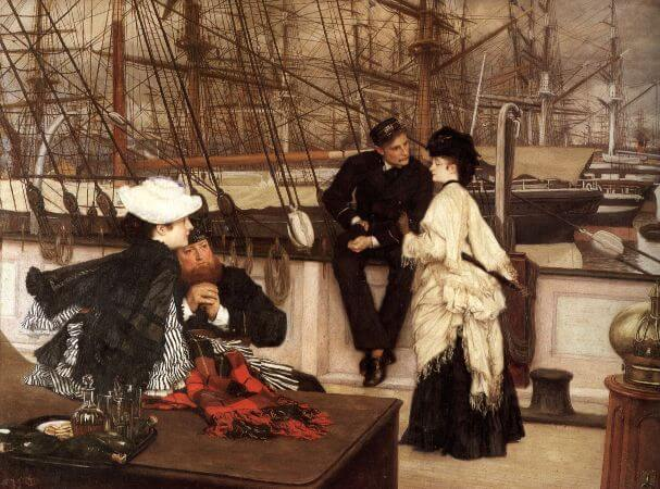 James Tissot, The Captain and The Mate, 1873