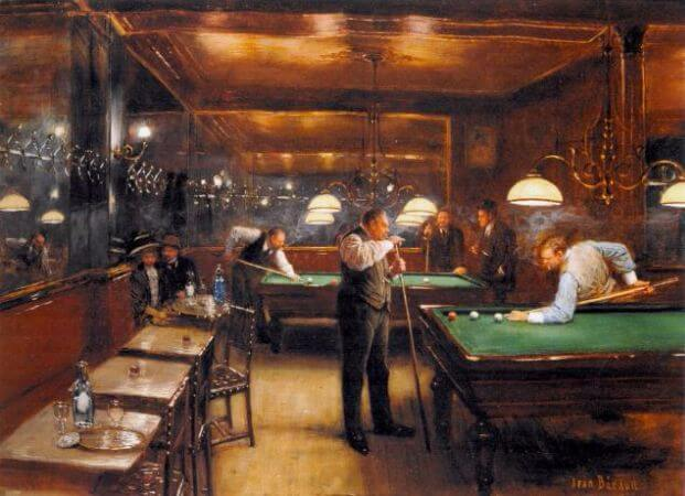 Jean Beraud - A Game of Billiards