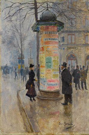 Jean Beraud - La Columna Morris, 1885