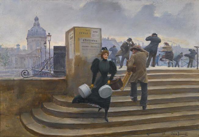 Jean Beraud, La Modiste sur le Pont des Arts