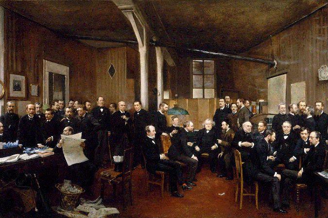 Jean Beraud - La redaction du Journal des Debats, 1889