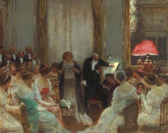 Jean Beraud - Le Concert Prive, 1911