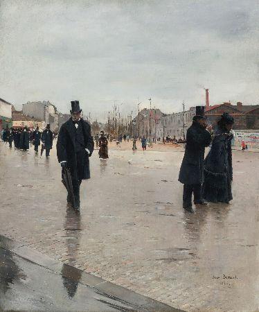 Jean Beraud - Leaving Montmartre Cemetery, 1876