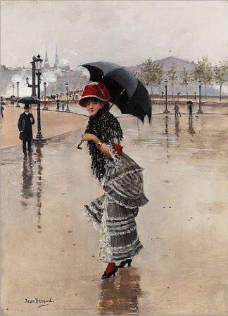 Jean Beraud, Parisienne un jour de pluie, 1890