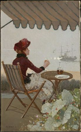 Jean Beraud, Seaside Cafe, 1884