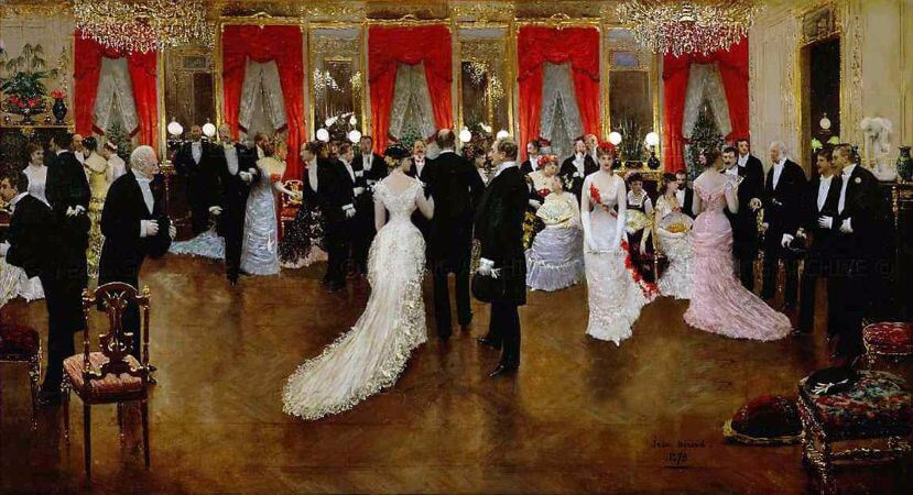 Jean Beraud - Soiree Hotel Caillebotte, 1878