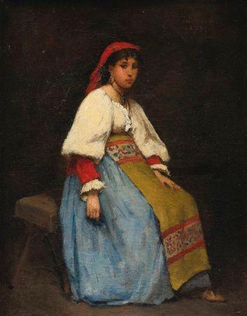 Jean Beraud - italian Girl, 1873