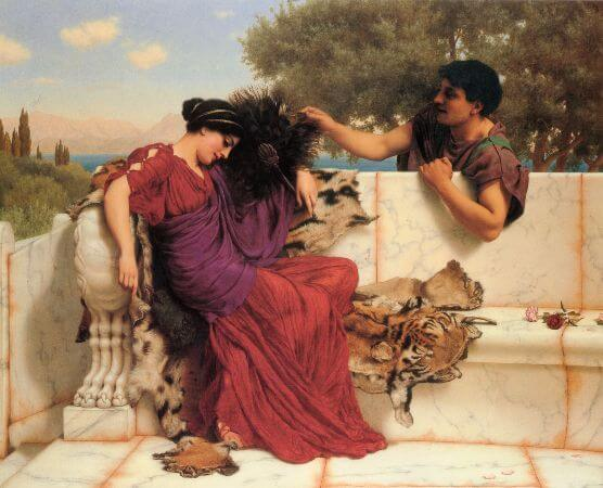 John William Godward, The Old, Old Story, 1903