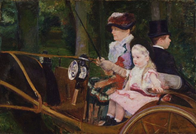Mary Cassatt, A Woman And Child In The Driving Seat, 1881