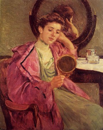 Mary Cassatt, Antoinette At Her Dressing Table, 1909