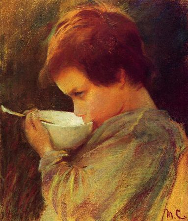 Mary Cassatt, Child Drinking Milk, 1868