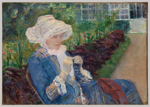 Mary Cassatt, Lydia Crocheting In The Garden At Marly, 1880