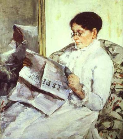 Mary Cassatt, Reading Le Figaro, 1878