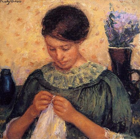Mary Cassatt, Woman Sewing, 1914